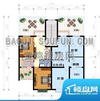 山水文苑户型图 2室面积:67.90m平米