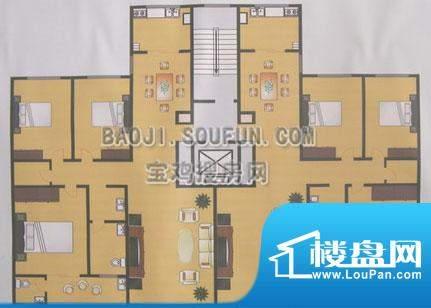 香榭名居户型图 面积:0.00m平米