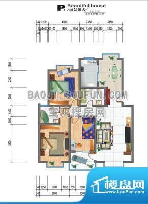 左岸新城户型图 面积:0.00m平米