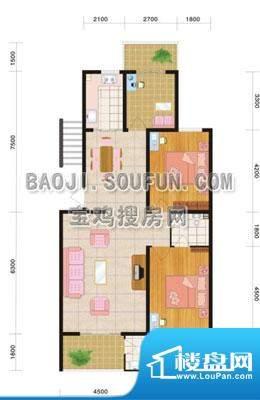 盛景华都户型图 2室面积:0.00m平米