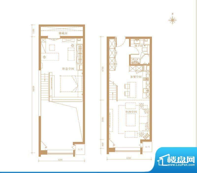 合生世界花园MINI户型 1室1厅1面积:60.00平米