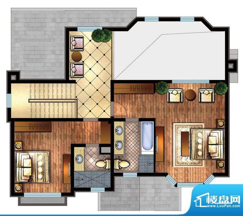 首创·澜茵山C南户型二层 2室2