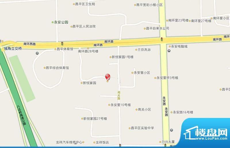 新悦家园交通图