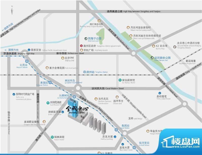 金成中心交通图