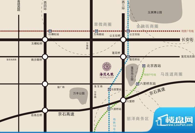 海淀九號交通图