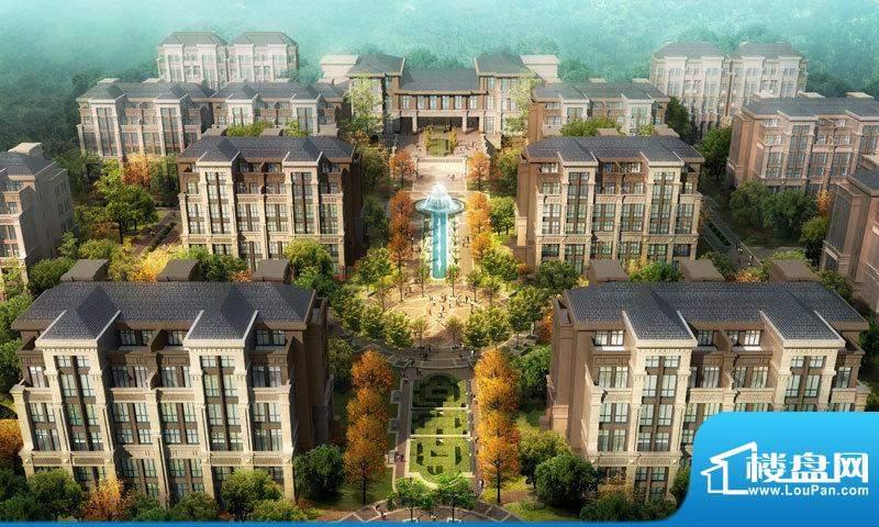北京城建·世华龙樾主轴景观效果图