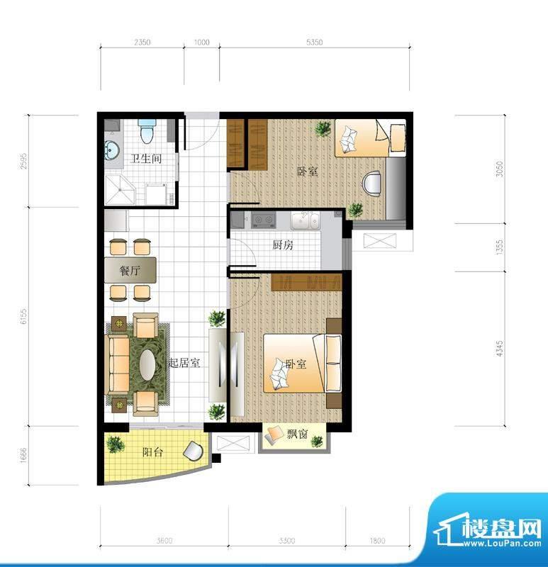 北京城建·世华泊郡5号楼E1/E4面积:85.00平米