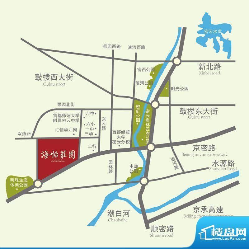 海怡庄园交通图