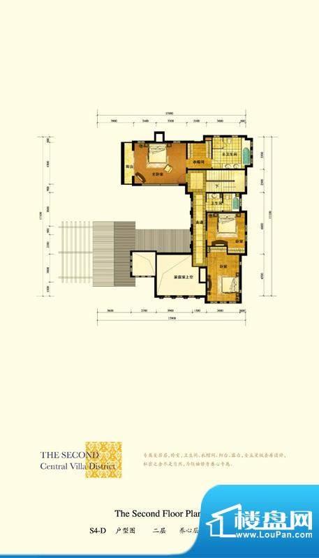 格拉斯小镇S4-D户型二层户型图面积:133.67平米