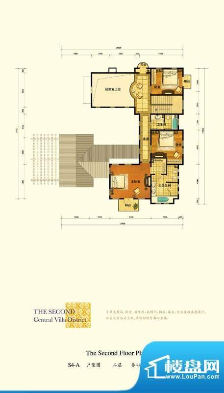 格拉斯小镇S4-A户型二层户型图面积:125.61平米