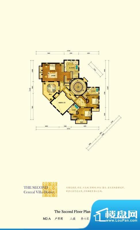 格拉斯小镇M2-B户型二层户型图面积:166.61平米