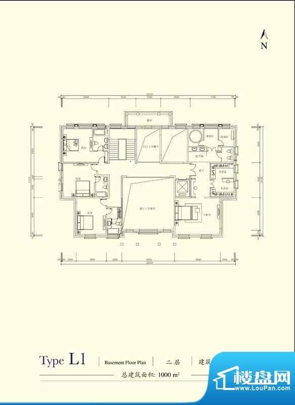 格拉斯小镇L1户型二层户型图 4面积:377.60平米