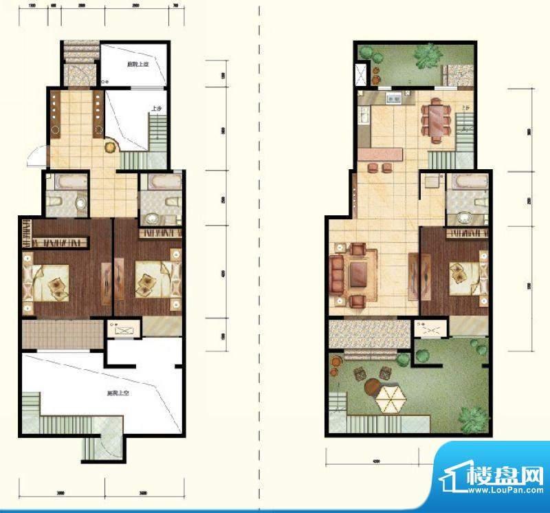 中昂·香醍下跃户型图 3室2厅3面积:170.00平米