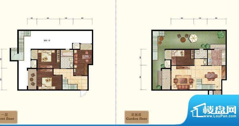 中昂·香醍下跃小户型图 3室2厅面积:150.00平米