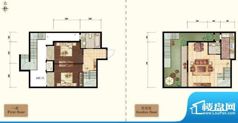 中昂·香醍小两居户型图 2室2厅面积:90.00平米
