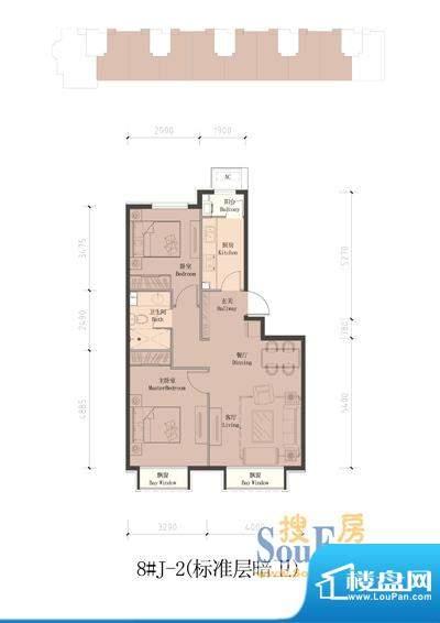 润泽公馆8#楼J-2(标准层暗卫)