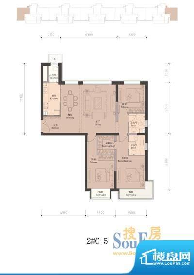 润泽公馆2#楼C-5 3室2厅2卫1厨