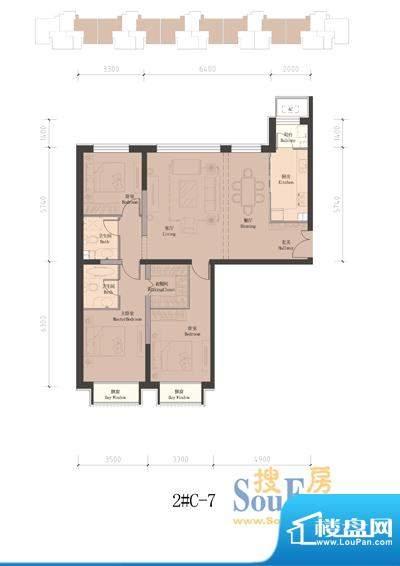 润泽公馆2#楼C-7 3室2厅2卫1厨