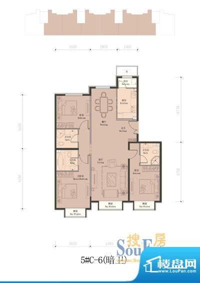 润泽公馆5#楼C-6 3室2厅3卫1厨