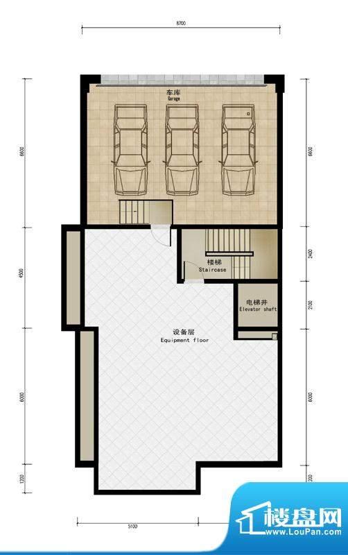 润泽庄园·墅郡C户型-车库 5室