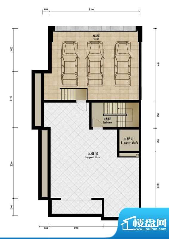 润泽庄园·墅郡B户型-车库 4室