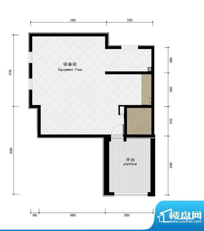 润泽庄园·墅郡B户型-屋顶 4室