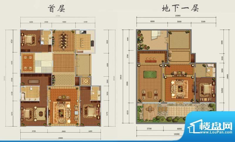 西山壹号院下跃-C1户型图 3室3面积:645.00平米