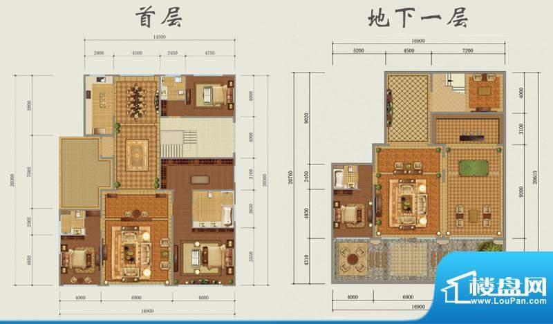 西山壹号院下跃-C2户型图 3室2面积:642.00平米