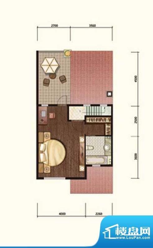 阳光邑上联排三层 1室1厅1卫面积:232.00平米