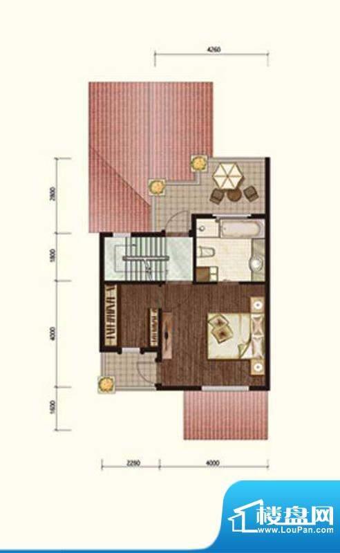 阳光邑上联排三层 1室1厅1卫面积:240.00平米