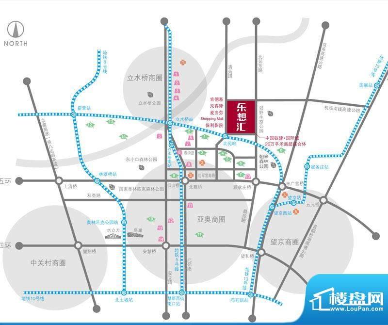 中国铁建国际城乐想汇交通图