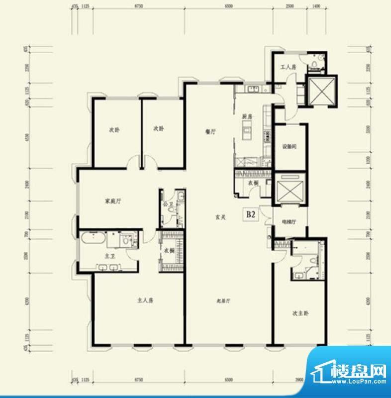 金茂府B2户型 4室3厅4卫1厨面积:381.62平米