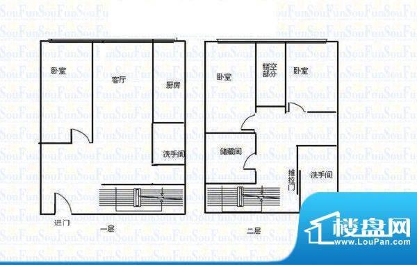 中弘北京像素 0室 户型图