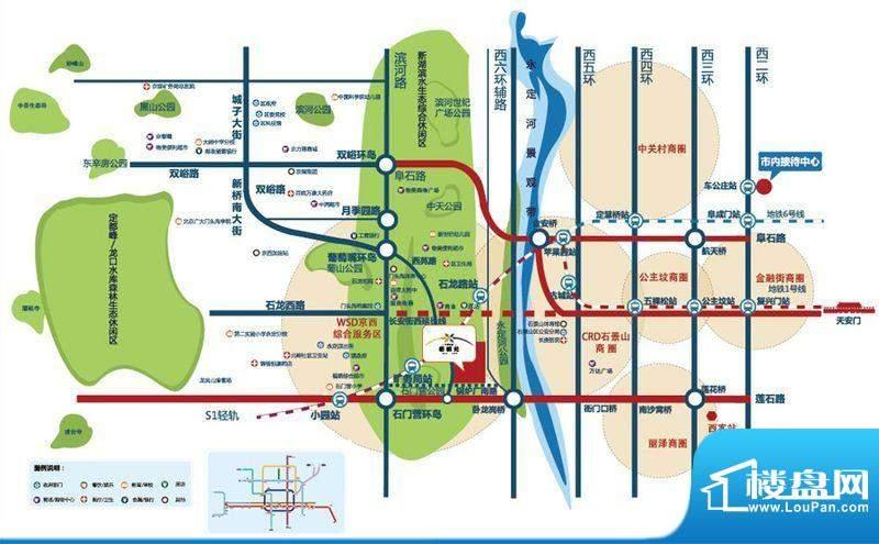 中国铁建·梧桐苑交通图