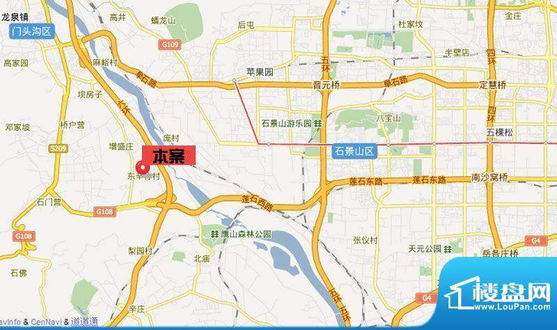 中国铁建·梧桐苑交通区位图