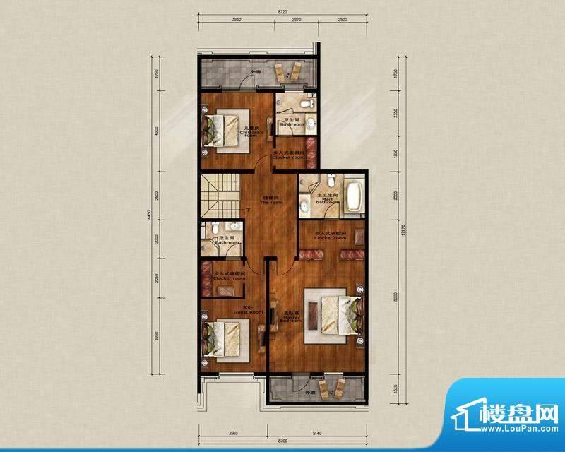 蓝岸丽舍·墅里D3二层户型图 3