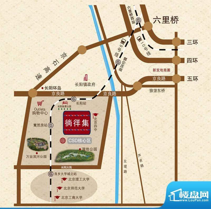 北京城建徜徉集交通图