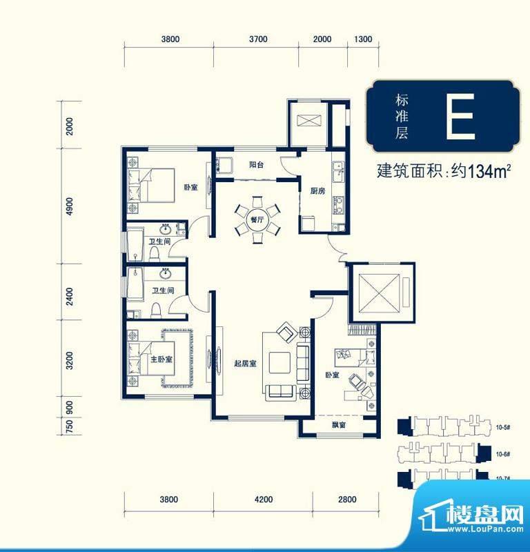 北京城建徜徉集10号地6#、7#、面积:134.00平米