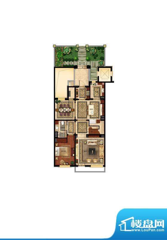华润·润西山叠拼三层户型图 1
