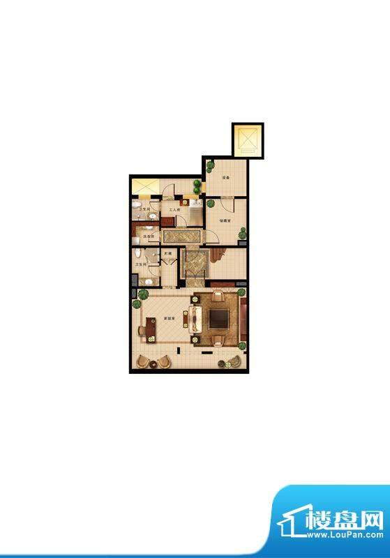 华润·润西山叠拼地下一层户型