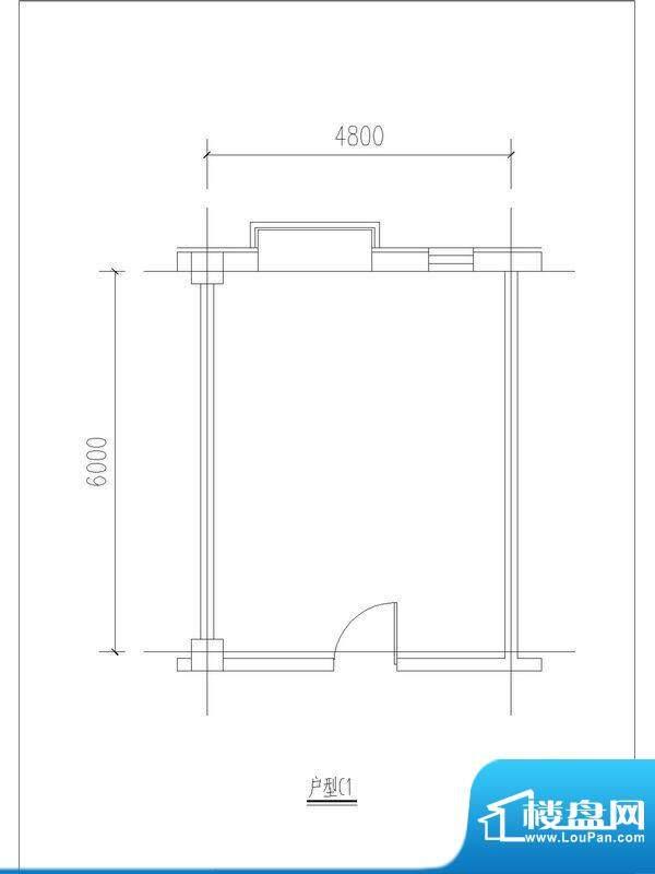 中奥广场·首站C1户型图 1室面积:28.80平米