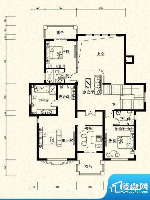 拉斐水岸D17三层户型图 10室4厅面积:151.12平米