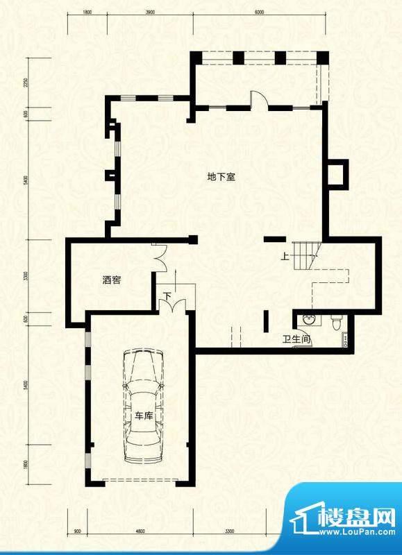 拉斐水岸D17一层户型图 10室4厅面积:160.01平米