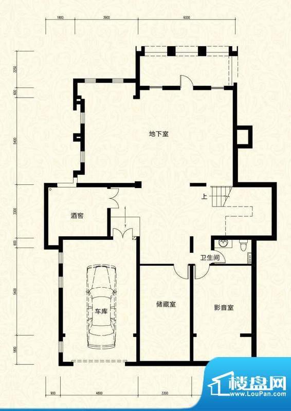 拉斐水岸D18一层户型图 12室4厅面积:203.21平米