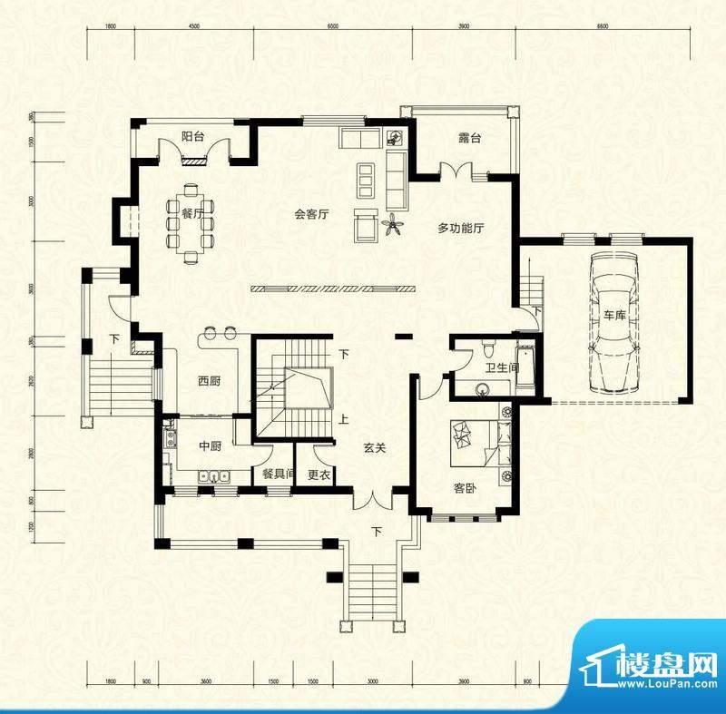 拉斐水岸D25二层户型图 15室3厅面积:253.12平米