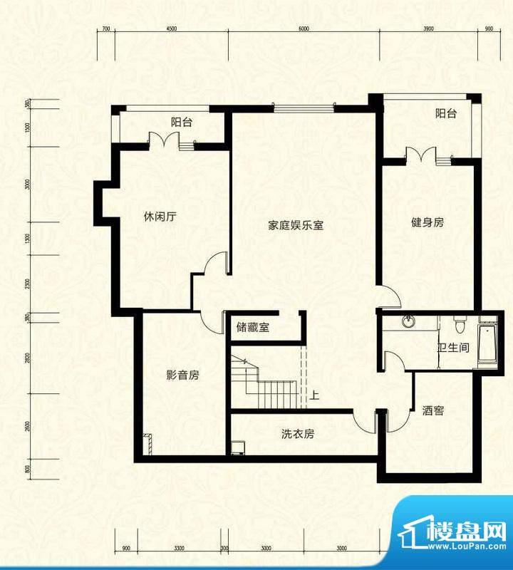 拉斐水岸D25一层户型图 15室3厅面积:188.98平米