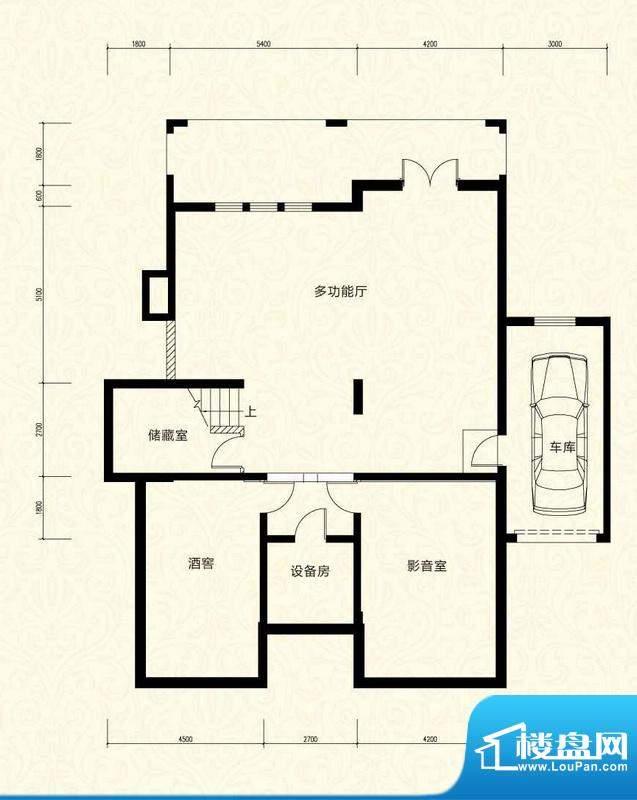 拉斐水岸D30一层户型图 9室5厅面积:159.26平米
