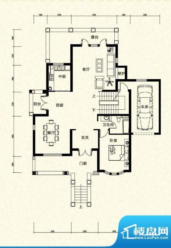 拉斐水岸D1二层户型图 10室3厅面积:152.38平米