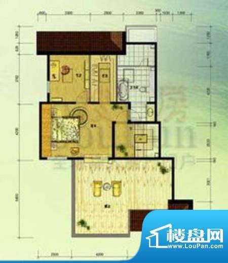 北京奥林匹克花园ⅢC1边-SY户型面积:57.61平米