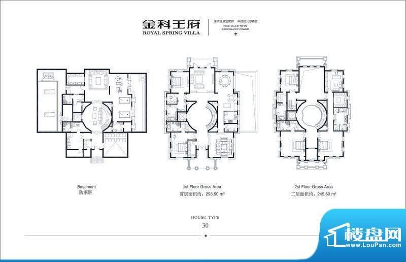 金科王府东区30#户型 6室3厅5卫面积:539.10平米